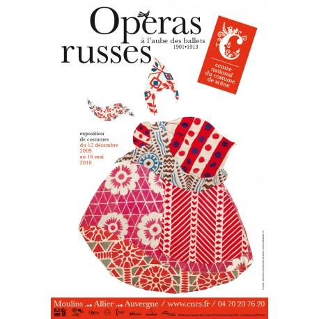 """Affiche """"Opéras russes, à l'aube des ballets russes"""""""