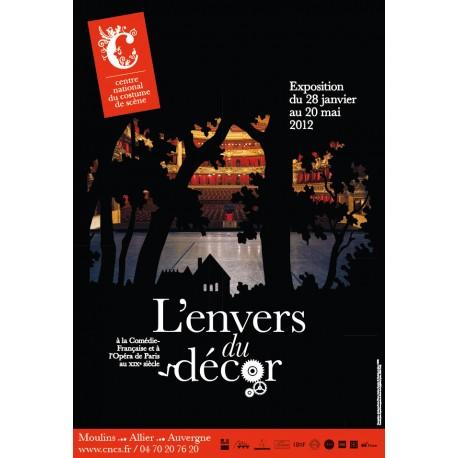 """Affiche """"L'Envers du décor à la Comédie-Française et à l'Opéra national de Paris"""""""
