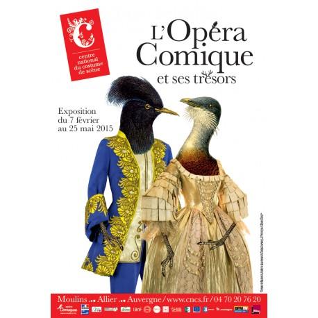 """Affiche """"L'Opéra Comique et ses trésors"""""""