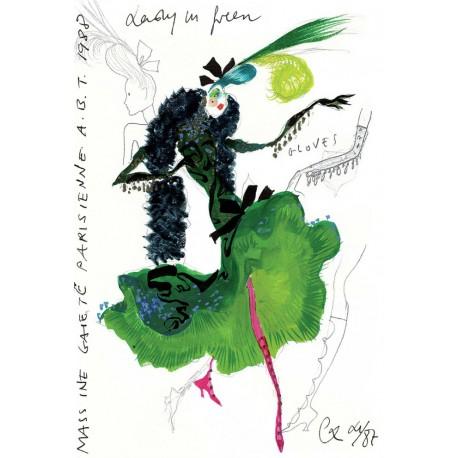 """Reproduction """"La Dame en vert"""""""