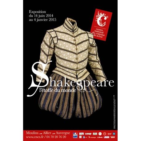 """Affiche """"Shakespeare, l'étoffe du monde"""""""