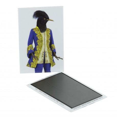 Magnet Oiseau en costume bleu
