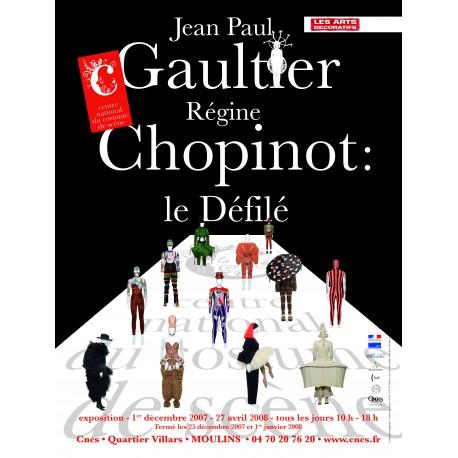 """Affiche """"Gaultier-Chopinot, le défilé"""""""