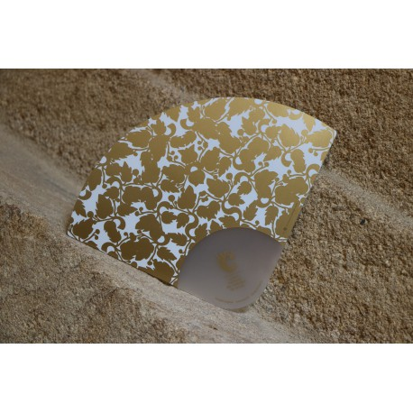 Eventail PVC siglé CNCS Blanc et doré
