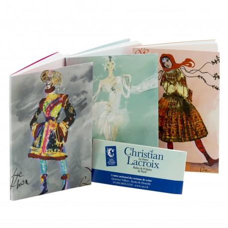 Set de 3 carnets inspirés par Christian Lacroix