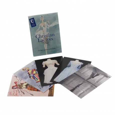 "Lot de 15 cartes  ""Christian Lacroix, La Source, ballet de l'Opéra de Paris"""
