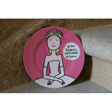 Assiette Petit Jour de Paris princesse Je dis toujours...