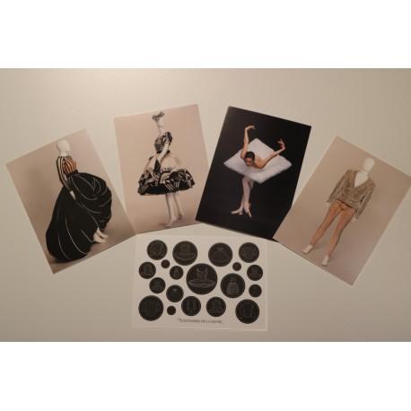 Lot 5 cartes postales Couturiers de la danse