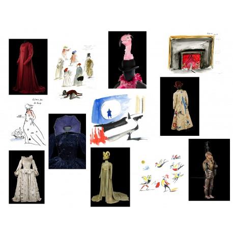 Lot 12 cartes postales de l'exposition Scènes de Yannis Kokkos